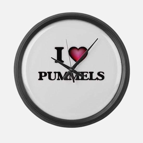 I Love Pummels Large Wall Clock