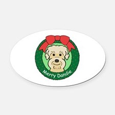 Cute Dandie dinmont terrier Oval Car Magnet