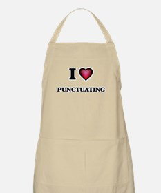 I Love Punctuating Apron