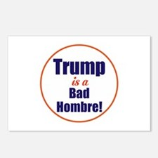 Donald trump is a bad hombre Postcards (Package of
