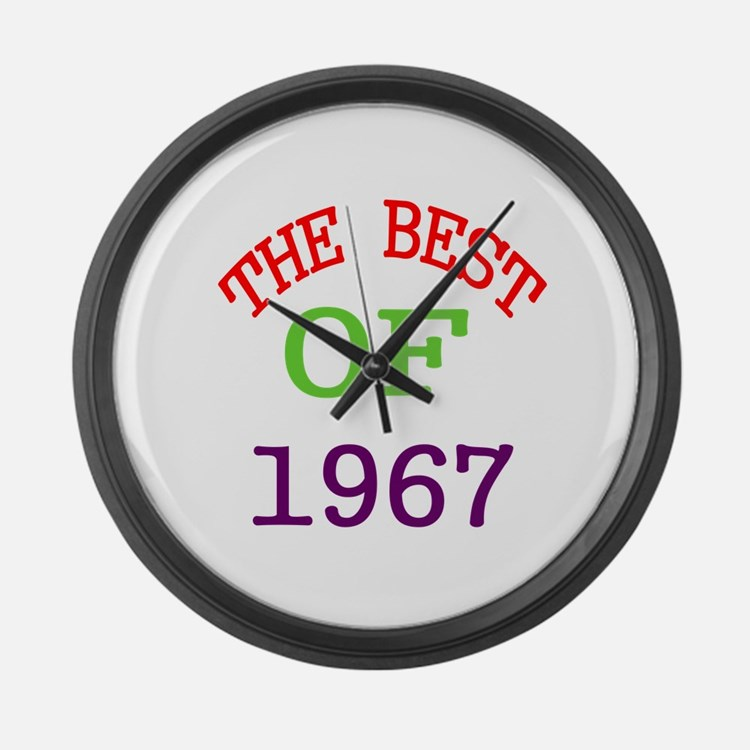 The Best Of 1967 Large Wall Clock