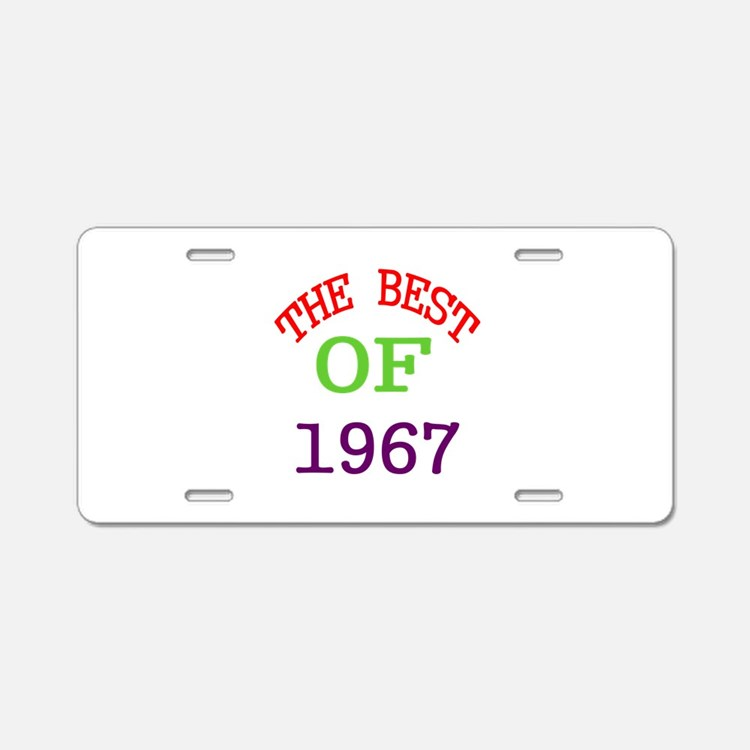 The Best Of 1967 Aluminum License Plate
