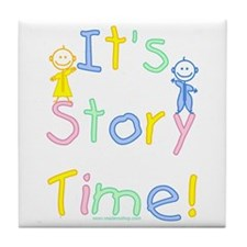Story Time Babies Tile Coaster