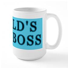 Blue World's Best Boss Mug
