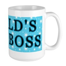 World's Best Boss With Stars Mug