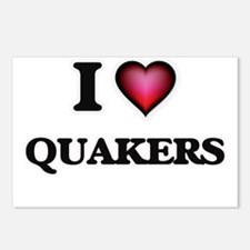 I Love Quakers Postcards (Package of 8)