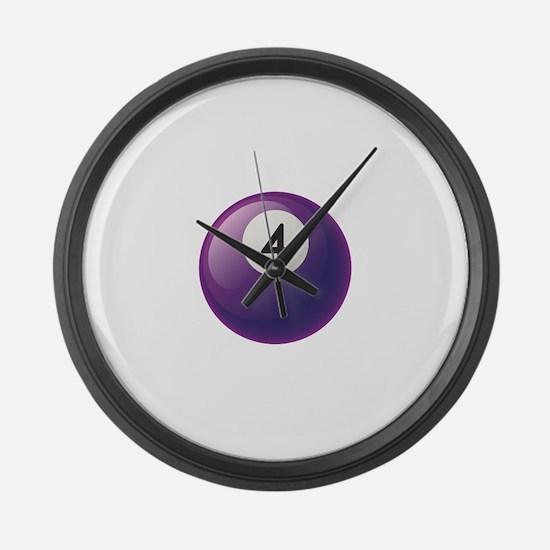 Billiard Pool Ball Large Wall Clock