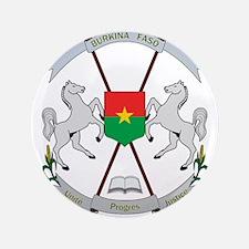 Coat of Arms of Burkina, Armoiries du Burki Button
