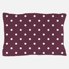 Red, Burgundy: Polka Dots Pattern (Sma Pillow Case