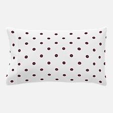 Red, Burgundy: Polka Dots Pattern (Sma Pillow Case
