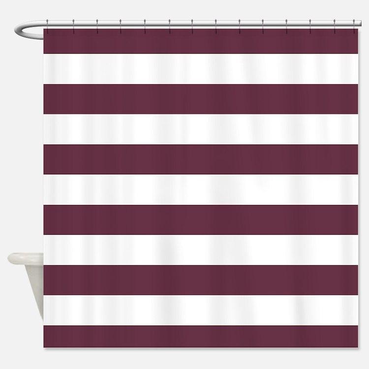 Burgundy Fabric Shower Curtain
