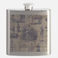 Vintage Sewing Toile Flask