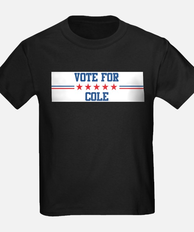 Vote for COLE Ash Grey T-Shirt