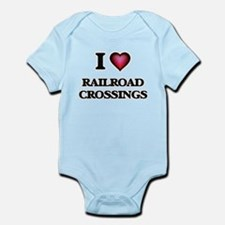 I Love Railroad Crossings Body Suit