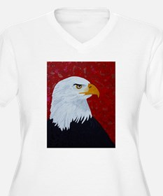 Fire In The Sky Eagle. Plus Size T-Shirt