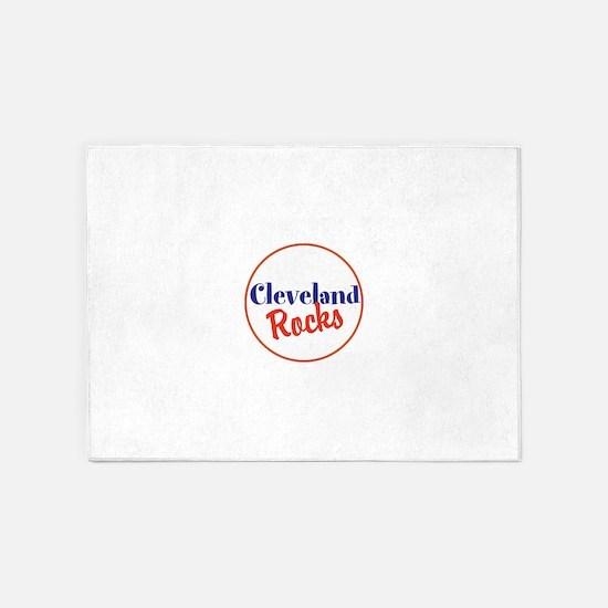 Cleveland Rocks 5'x7'Area Rug