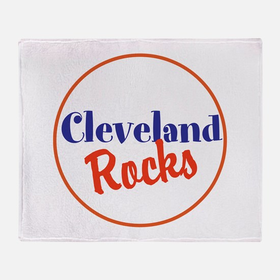 Cleveland Rocks Throw Blanket