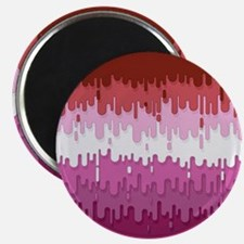 Lipstick Lesbian Abstract Drips Flag Magnet