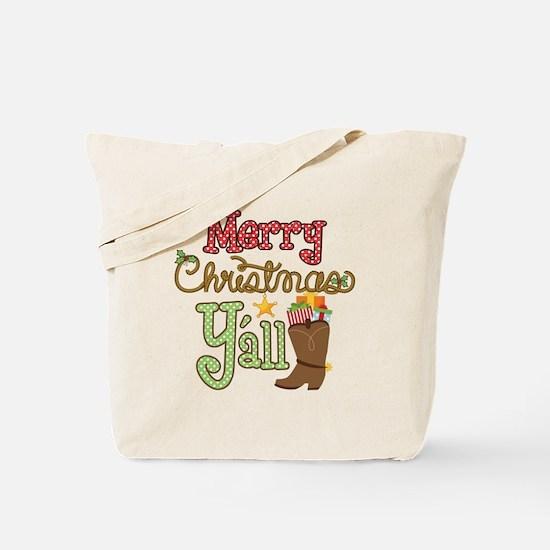 Christmas Y'all Tote Bag