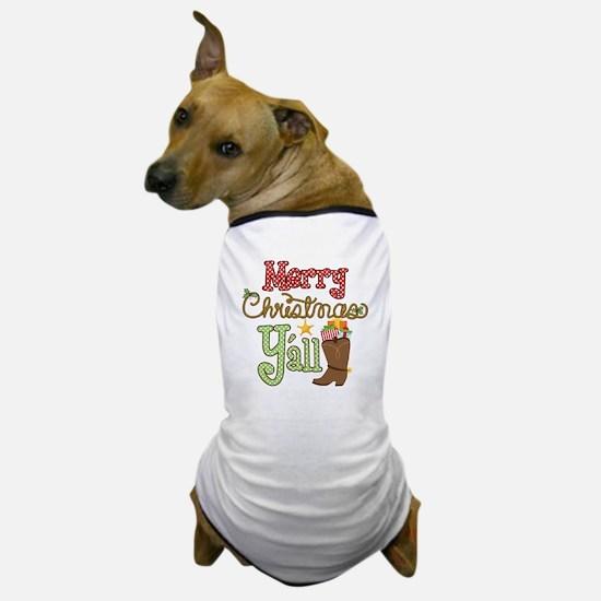 Christmas Y'all Dog T-Shirt
