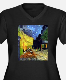 Cafe Terrace at Night by Van Gog Plus Size T-Shirt