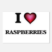 I Love Raspberries Postcards (Package of 8)