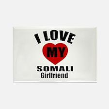 I Love My Somalia Girlfriend Rectangle Magnet
