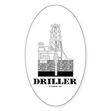 Driller Oval Bumper Stickers