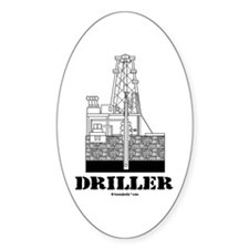 Driller Oval Decal