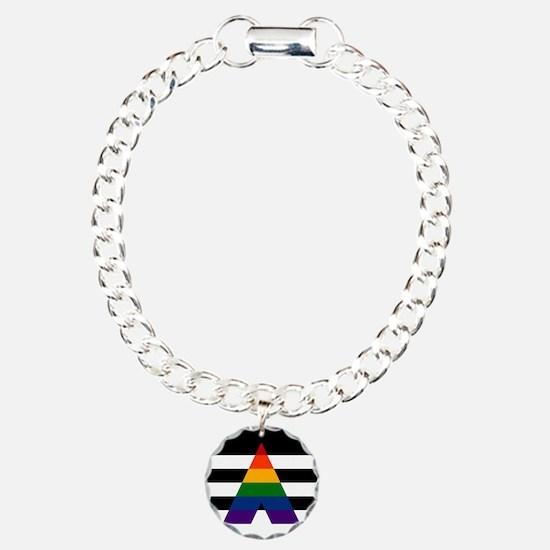 Solid LGBT Ally Pride Fl Bracelet