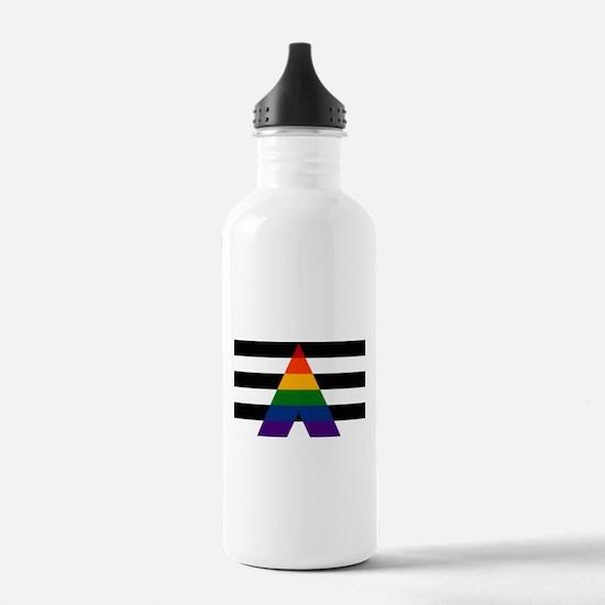 Solid LGBT Ally Pride Flag Water Bottle