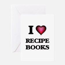 I Love Recipe Books Greeting Cards