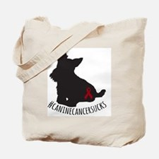 Unique Dog cancer Tote Bag