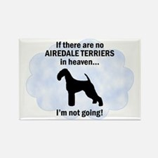 Airedales in Heaven Rectangle Magnet