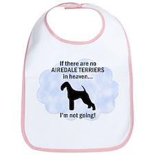 Airedales in Heaven Bib