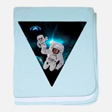 Cats Lost in Space baby blanket