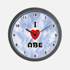 I Love Abe (Black) Valentine Wall Clock