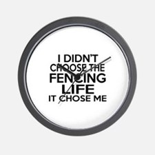Fencing It Chose Me Wall Clock