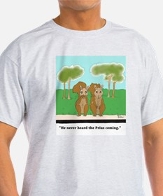 Squirrel v. Prius (color) T-Shirt