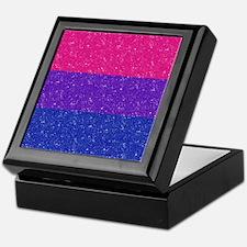 Glitter Bisexual Pride Flag Keepsake Box