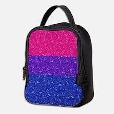 Glitter Bisexual Pride Flag Neoprene Lunch Bag