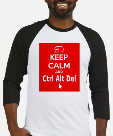 KC Ctrl Alt Del (red) Baseball Jersey