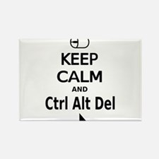 Keep Calm and Control Alt Delete (white) Rectangle