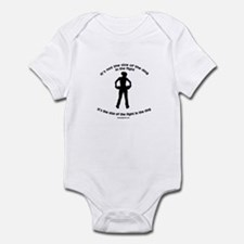 """Size doesn't matter"" quote Infant Bodysuit"