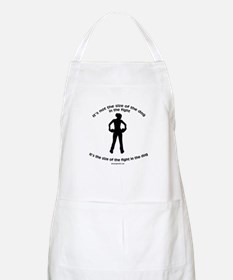 """Size doesn't matter"" quote BBQ Apron"