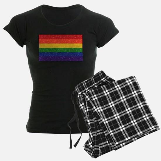 Glitter Rainbow Pride Flag Pajamas