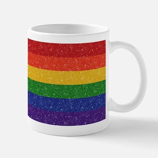 Glitter Rainbow Pride Flag Mug