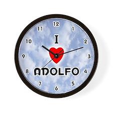 I Love Adolfo (Black) Valentine Wall Clock