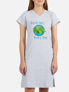 Cute Earth day Women's Nightshirt