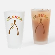 Oh, Snap Wishbone Drinking Glass